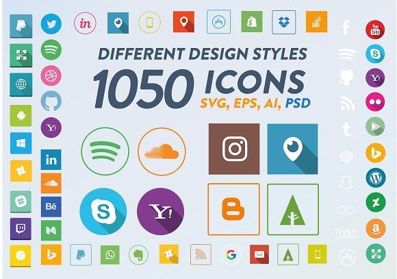 1050 Social Media Icons
