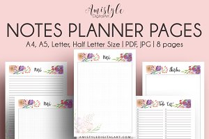 Notes Printable Planner Pages