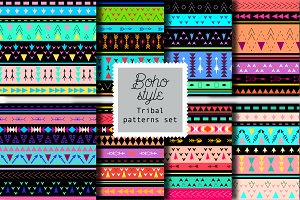 8 Boho tribal style patterns