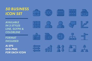 50 BUSINESS ICON SET