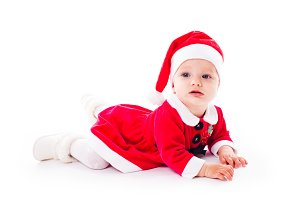 Santa baby girl