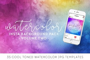 Cool Tone Watercolor Insta Pack [2]
