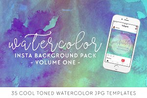 Cool Tone Watercolor Insta Pack [1]
