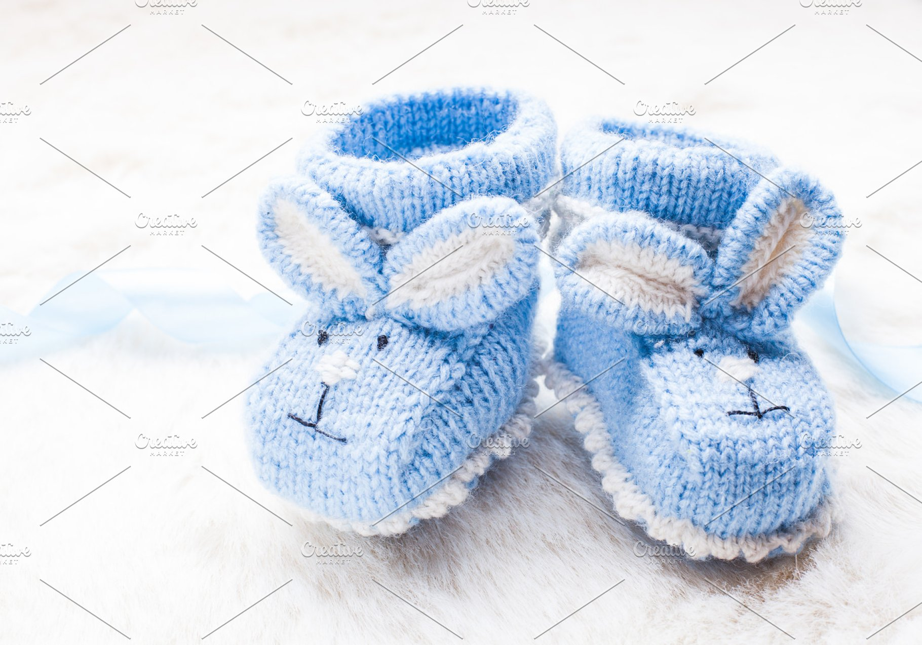 Bevorzugt Knitted baby booties ~ Animal Photos ~ Creative Market KE26