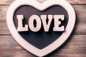 Wooden letters LOVE