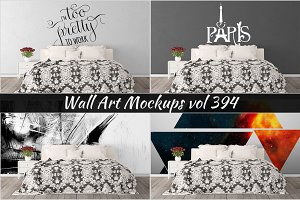 Wall Mockup - Sticker Mockup Vol 394