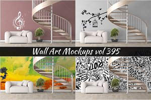Wall Mockup - Sticker Mockup Vol 395