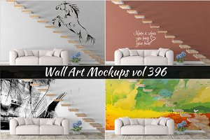 Wall Mockup - Sticker Mockup Vol 396