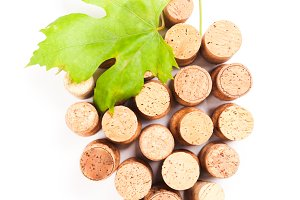 Wine corks isolated