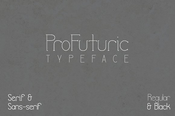 ProFuturic Typeface