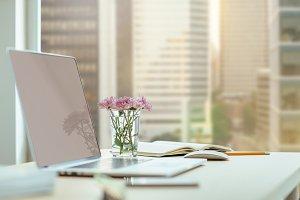 Modern blogger's workplace