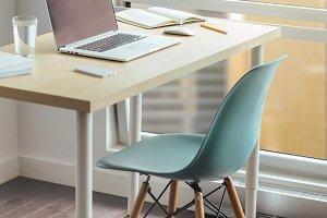 Modern desktop in loft