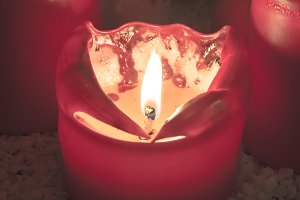 Red beautiful candle
