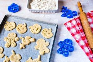 Making cookies for Halloween