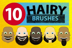 Hairy Photoshop Brushes