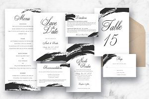 Ebony Paint Brush Wedding Suite
