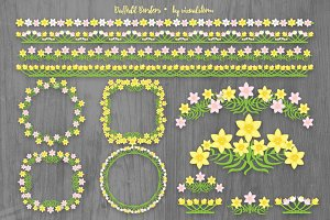 Daffodil Borders and Frames