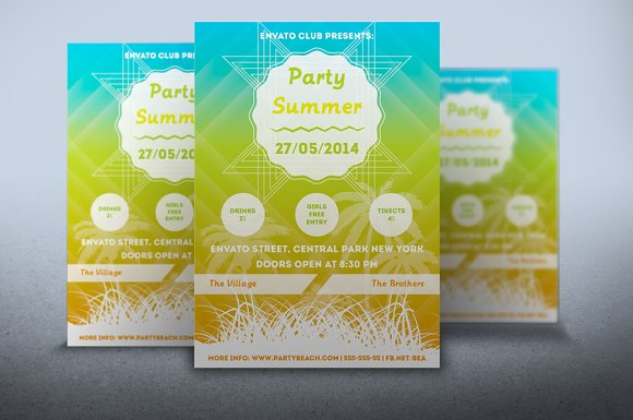 Flyer Party Summer