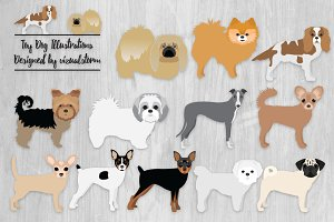 Cute Toy Dog Illustrations