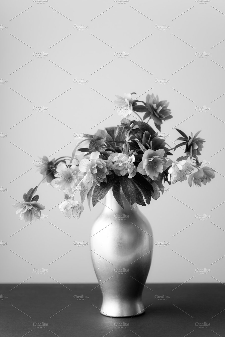 Hellebore Flowers In A Vase Nature Photos Creative Market