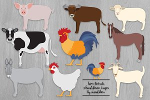 Farm Animal Illustrations