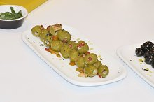 Plate of spanish olives