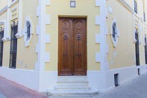 Door in a corner