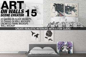 Canvas Mockups - Frames Mockups v 15