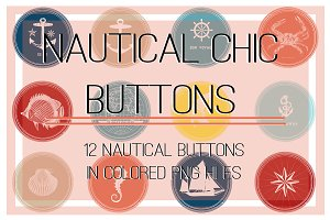 Nautical Chic Buttons