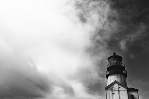 Lighthouse on Pacific Ocean
