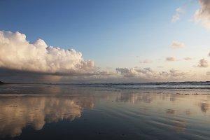 Cloud Reflection Over Ocean
