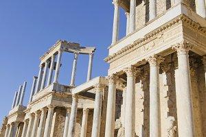 Amphitheater columns, Spain