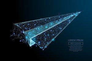 aircraft origami blue