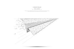 aircraft origami gray