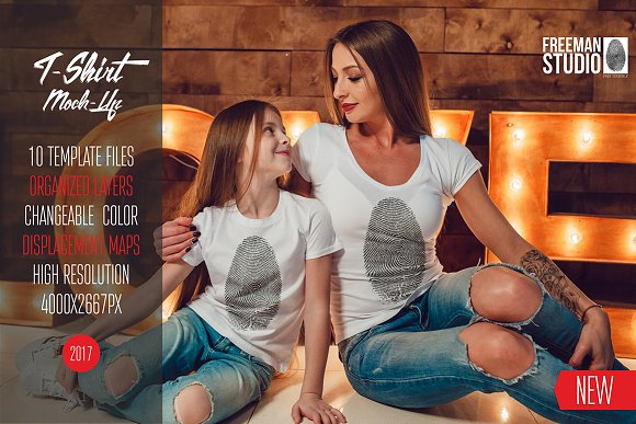 Download Family T-Shirt Mock-Up Vol.1 2017
