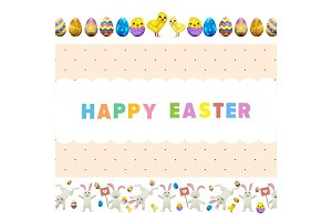 Happy Easter Vector Flyer or Concept