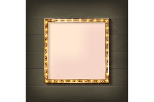 2 Square glowing frame