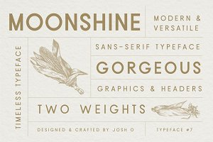 Moonshine Font | Classic Sans Serif