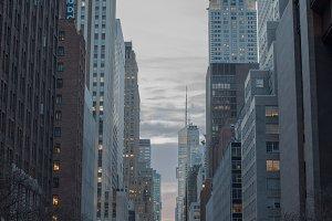 Manhattan Sunset over 42 street