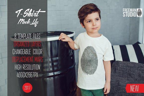 Kids T-Shirt Mock-Up Vol.2 2017