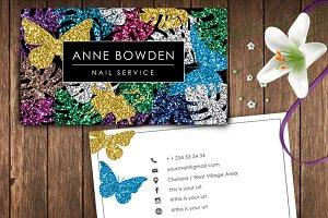 Glitter Name Card- id32