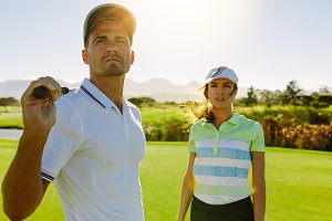 Young golfers at golf course