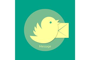Set bird letter message