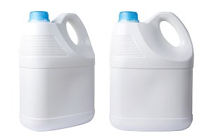 White plastic gallon bottle