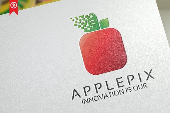 Apple Pixel Logo Template