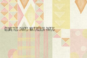 Geometric Shapes Watercolor Papers