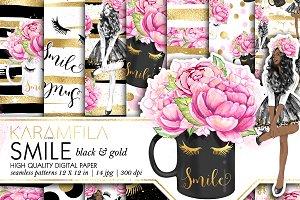 Smile Gold Fashion Patterns