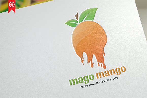 Mago Mango Juice Logo Template