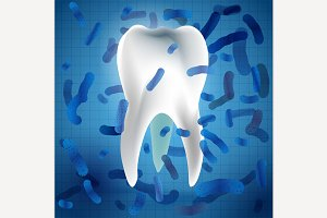 Tooth & bacterias