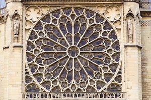 Notre Dame, rose window, Paris